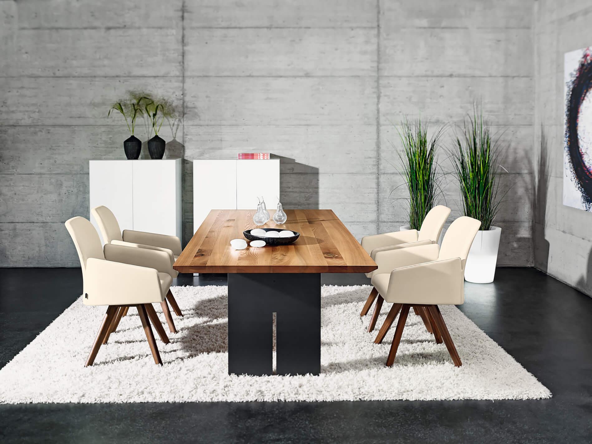 Tisch CAVO | Fuss Slot Rohstahl