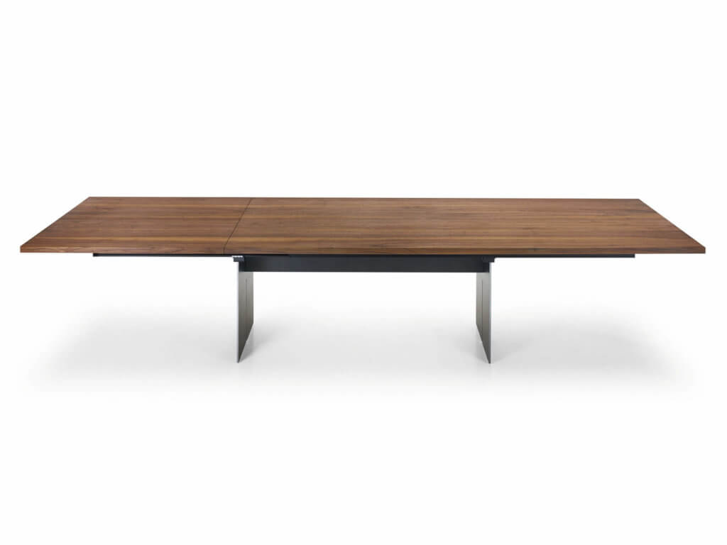 Table | CAVO SLIDE | american walnut solidFoot Slot Crude steel