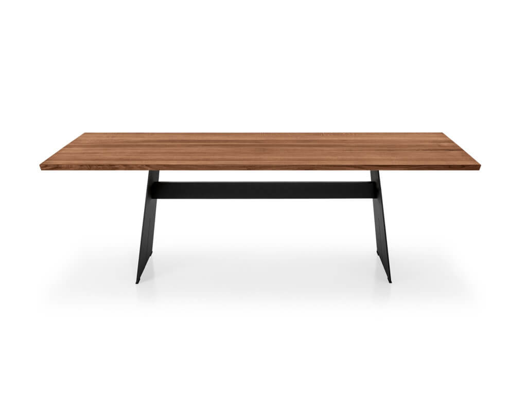Table CAVO | american walnut solid | Foot Stan Steel