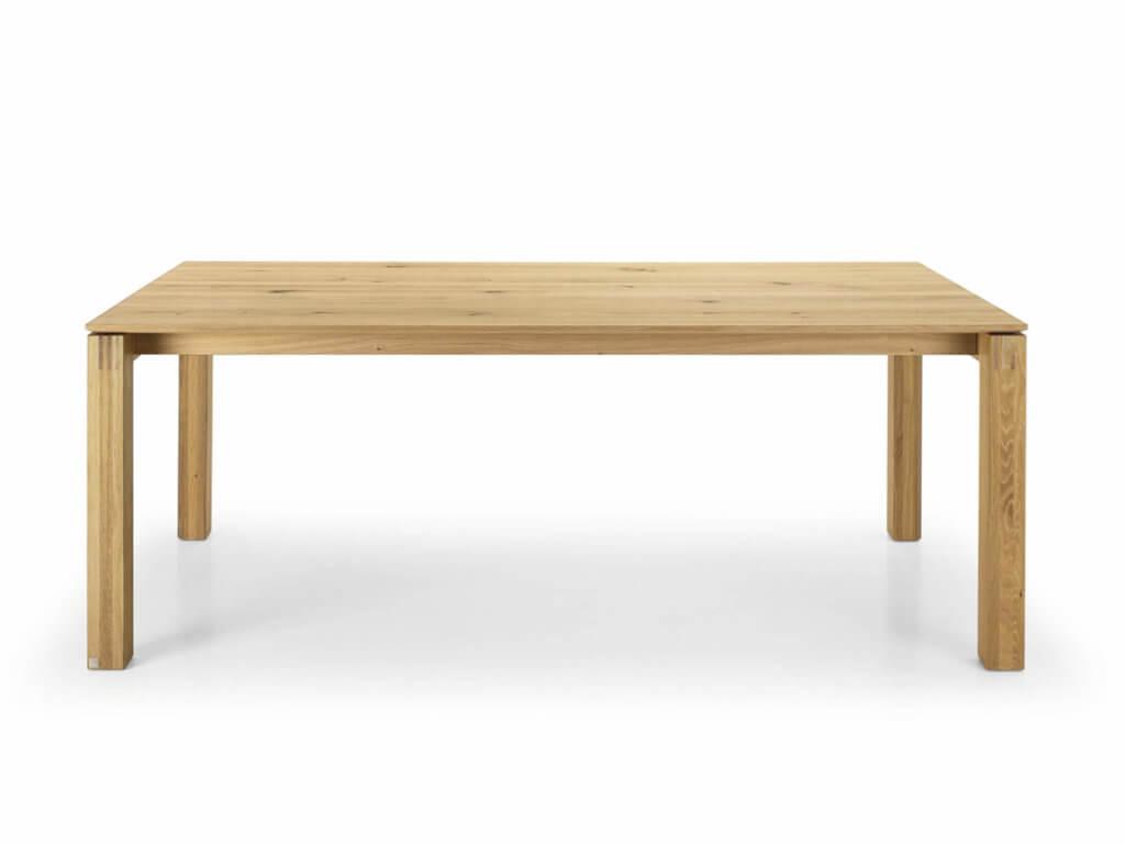 Tisch PONTE | Eiche massiv | Fuss Cubo