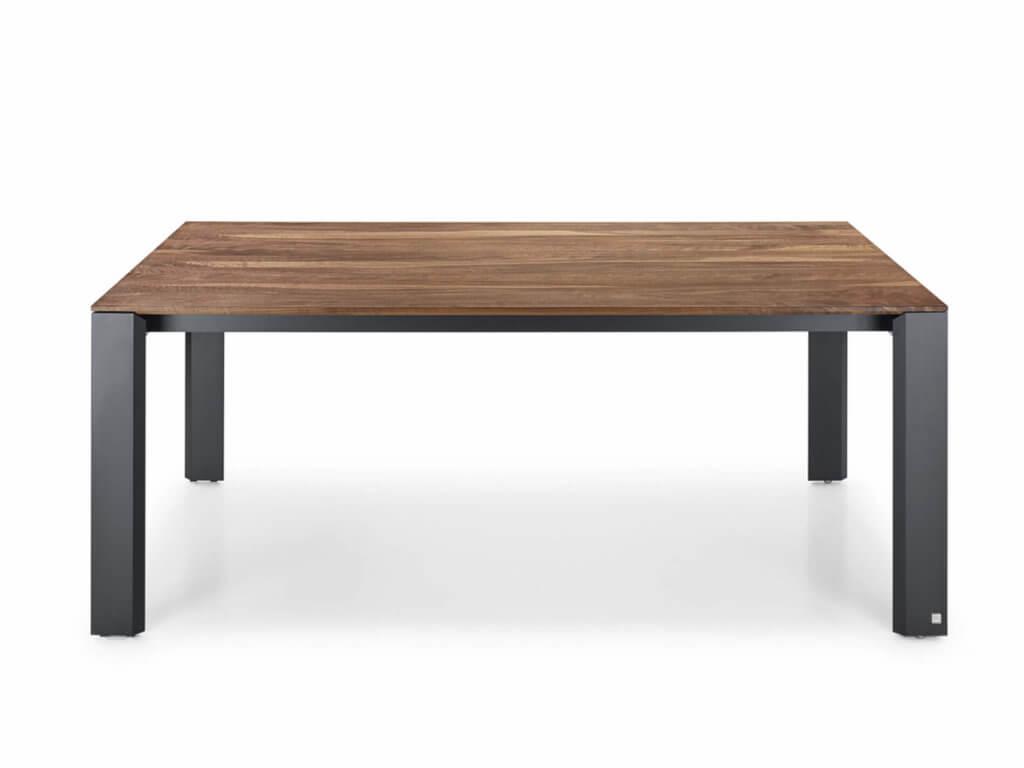 Tisch VOLA | amerik. Nussbaum massiv | Fuss Alu schwarz eloxiert