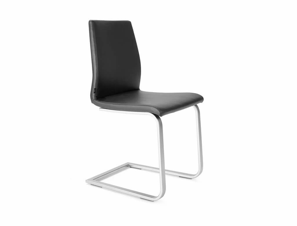 Stuhl AKTIVA | Freischwinger Flachrohr | Chrom matt