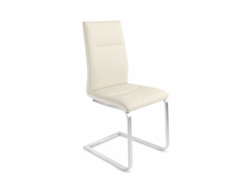 Stuhl EVA | Freischwinger Quadratrohr | Chrom matt