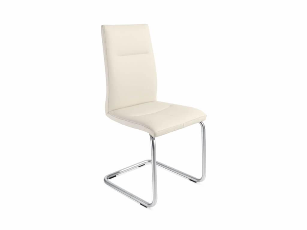 Stuhl EVA | Freischwinger Rundrohr | Chrom matt
