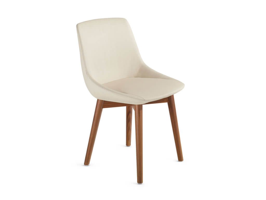 BAVERO chair | 4-legged wood | walnut