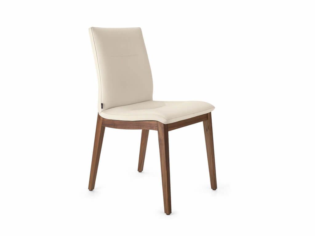 Stuhl MONA | 4-Fuss Holz Classic | amerik. Nussbaum massiv