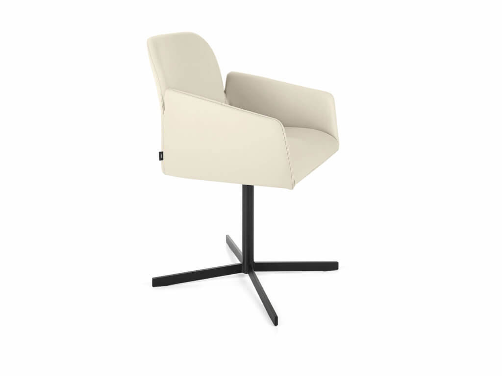 Chair LARISSA | swivel base | black lacquered