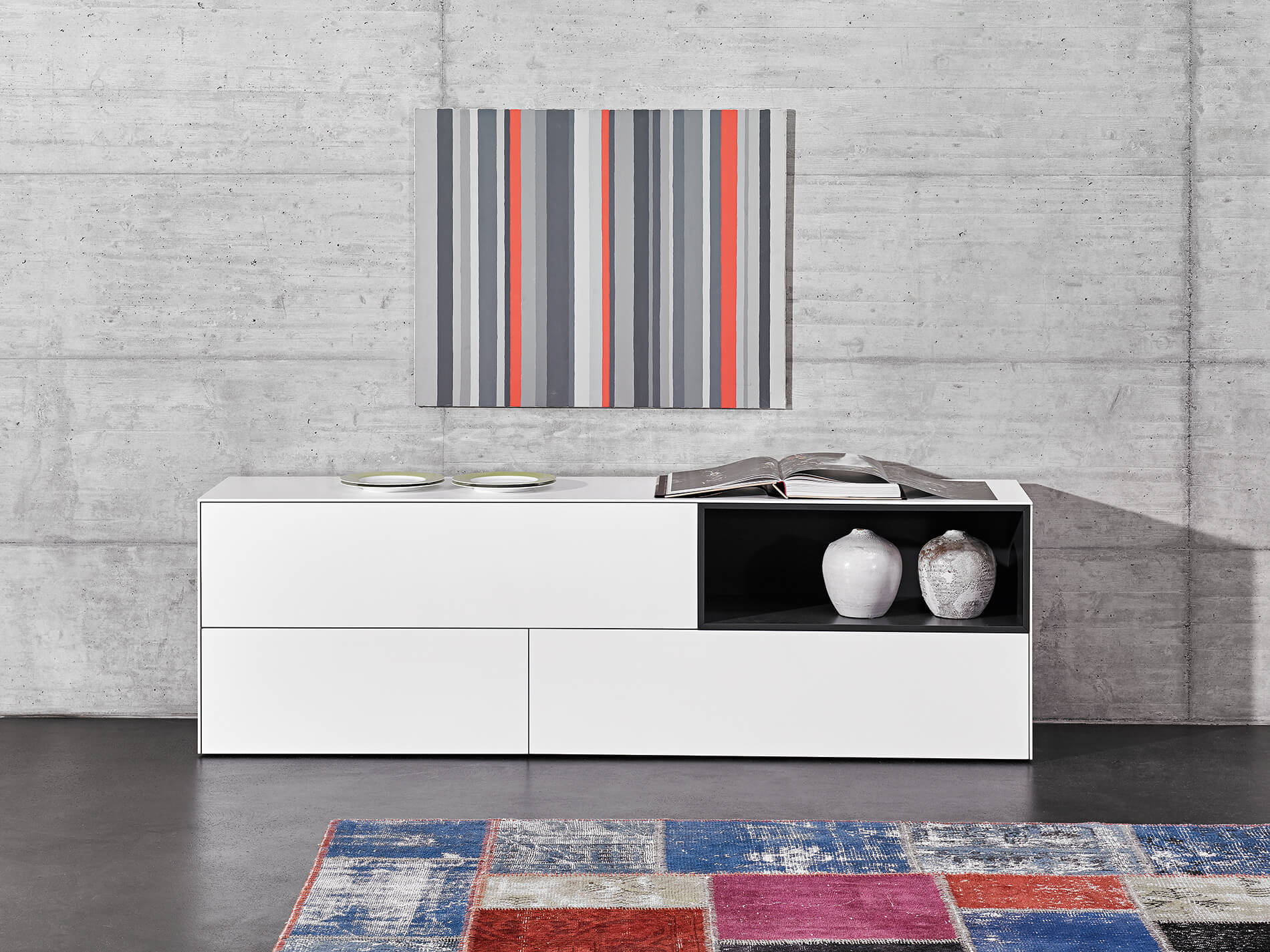 COMBINA sideboard | fronts and covers glass | bracket base