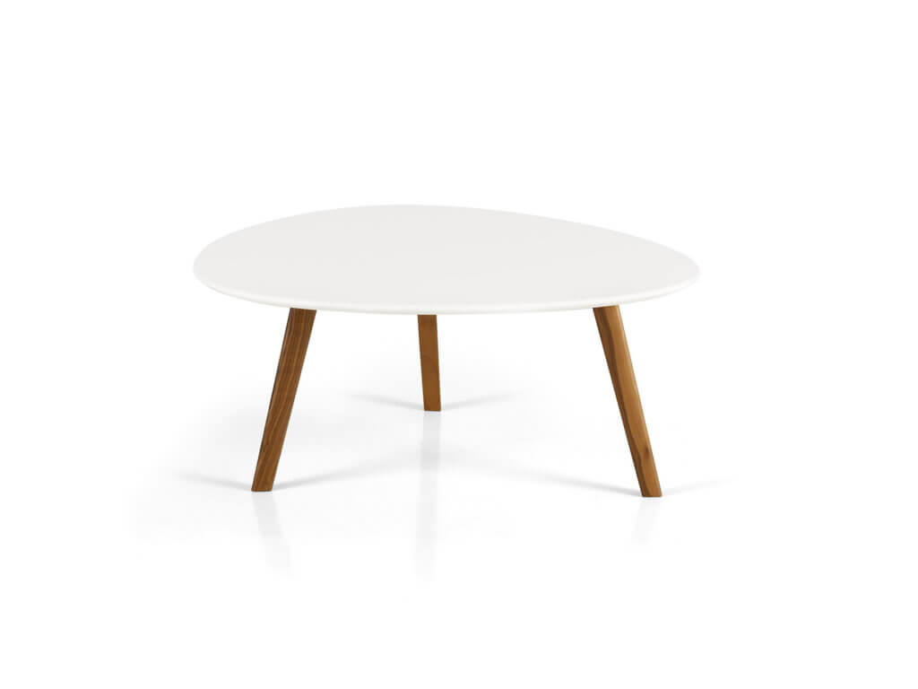 Saloon table AYRA WOOD | MDF white lacquered | american walnut solid